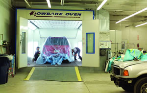 Automotive Painting Booth In Action